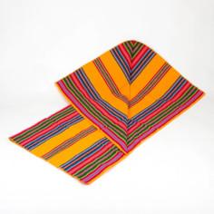 Aguayo Decke aus Bolivien, orange