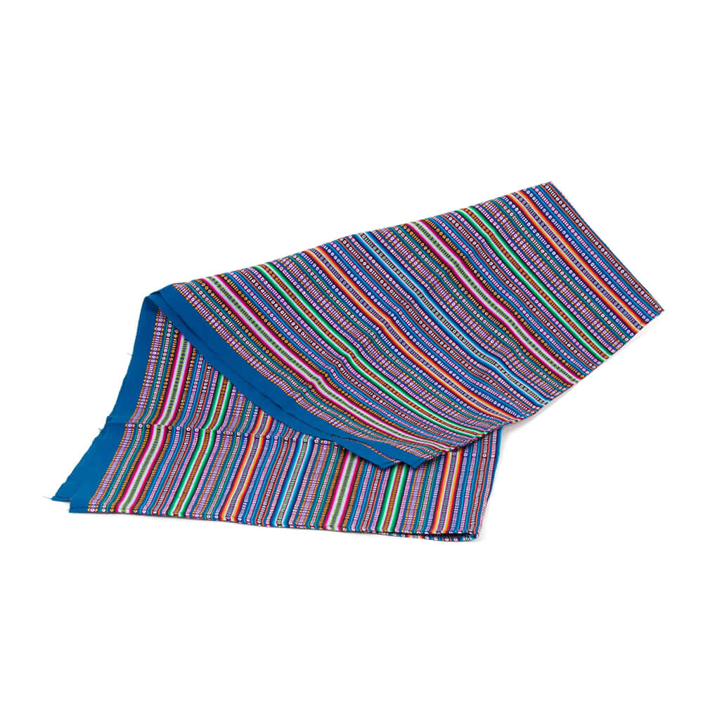 Decke aus Peru, blau