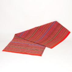 Decke aus Peru, orange dunkel