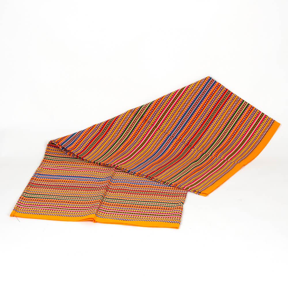 Decke aus Peru, orange hell
