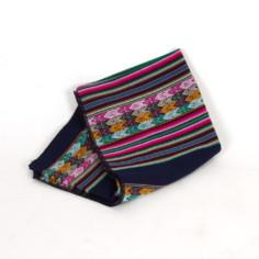 Aguayo Decke aus Peru - dunkelblau