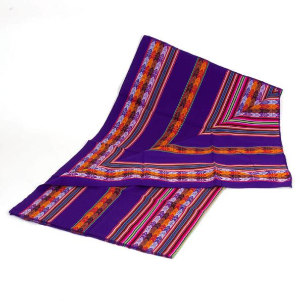 Aguayo Decke aus Peru - violett dunkel