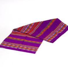 Aguayo Decke aus Peru - violett hell