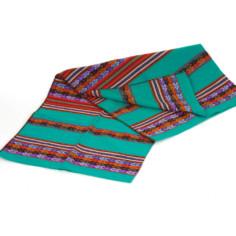 Aguayo Decke aus Peru - türkis