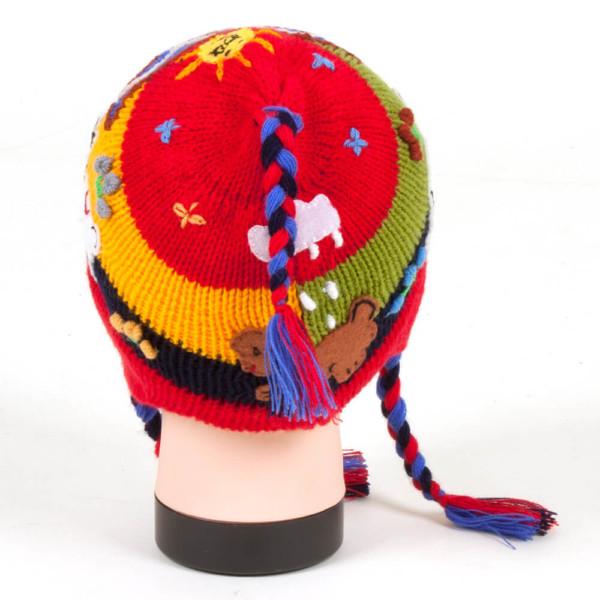 Kindermütze Ohrenklappenmütze aus Peru