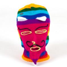 Maske Ukuko Peru weinrot