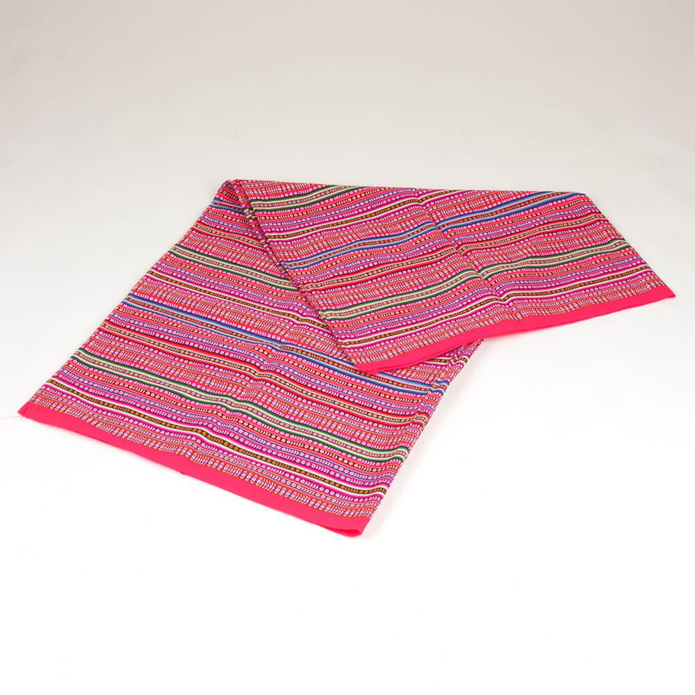 Decke Aguayo pink aus Peru
