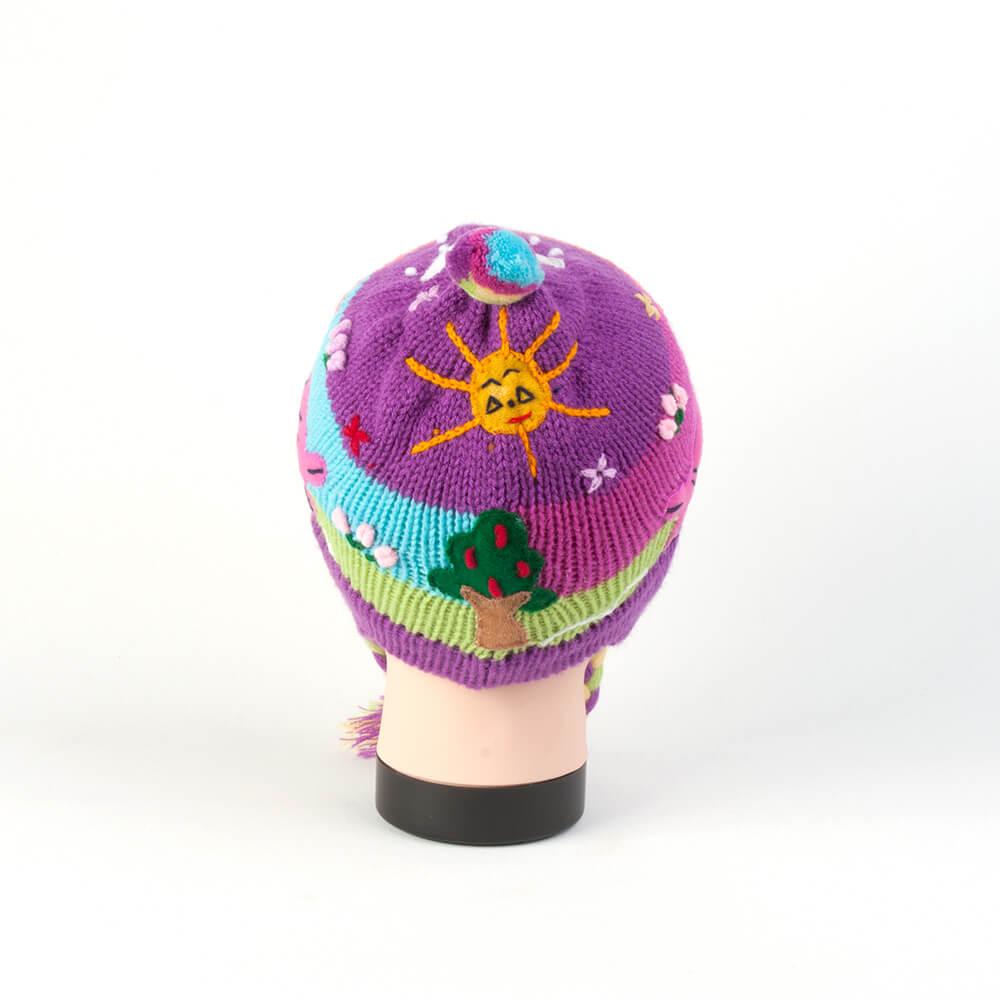 Kindermütze aus Peru - lila