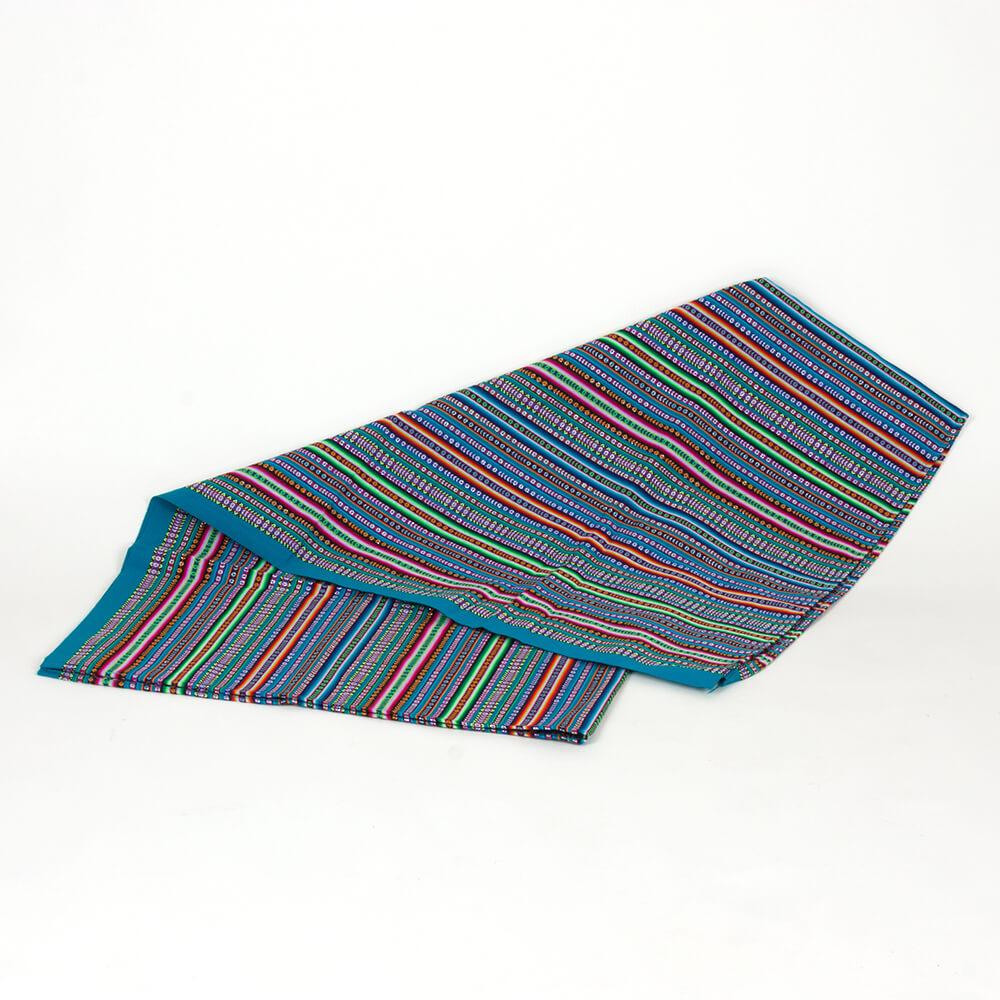 Decke aus Peru, türkis