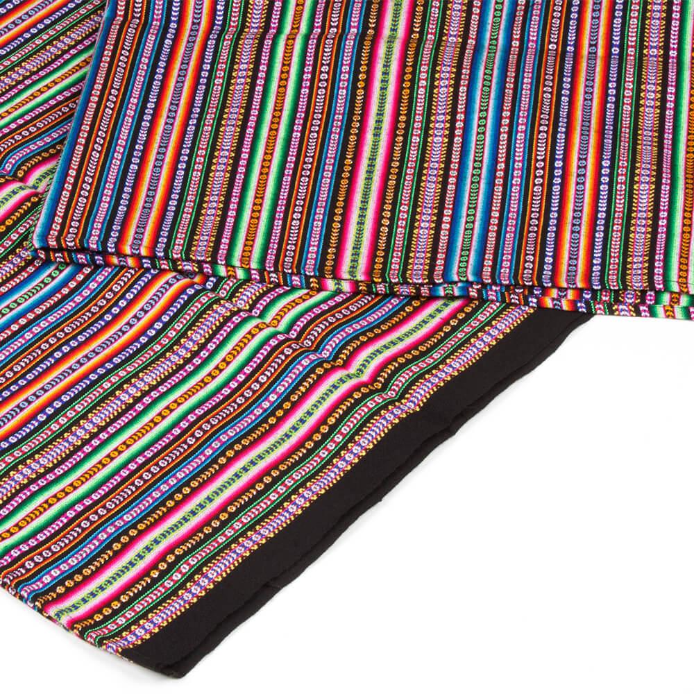Decke aus Peru - Aguayo schwarz