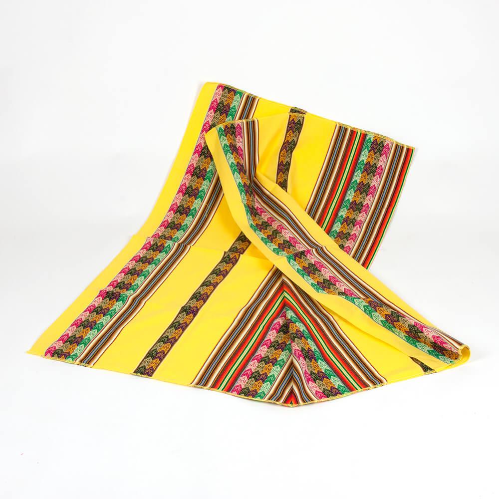 Decke aus Peru, gelb