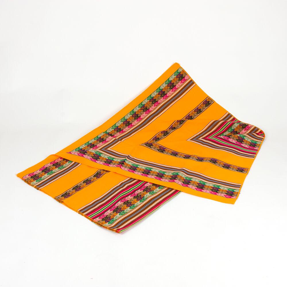 Decke aus Peru, orange