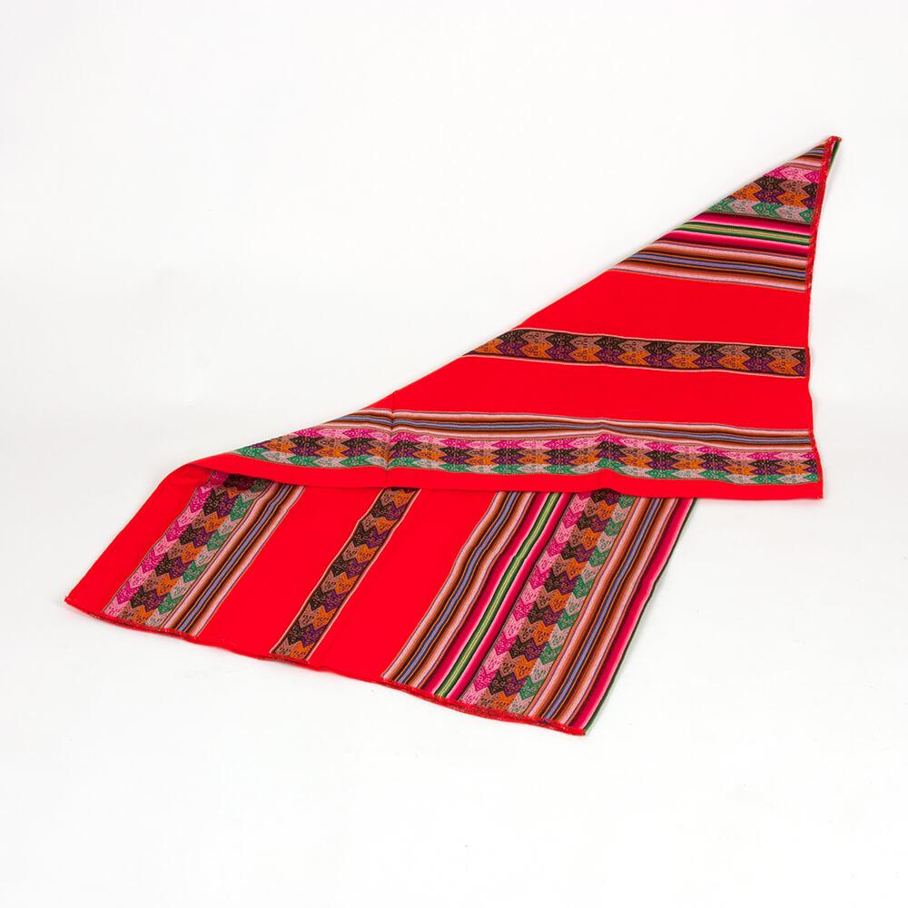 Decke aus Peru, rot