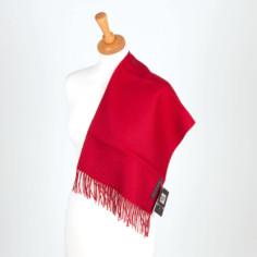 Schal aus Baby-Alpaka, rot