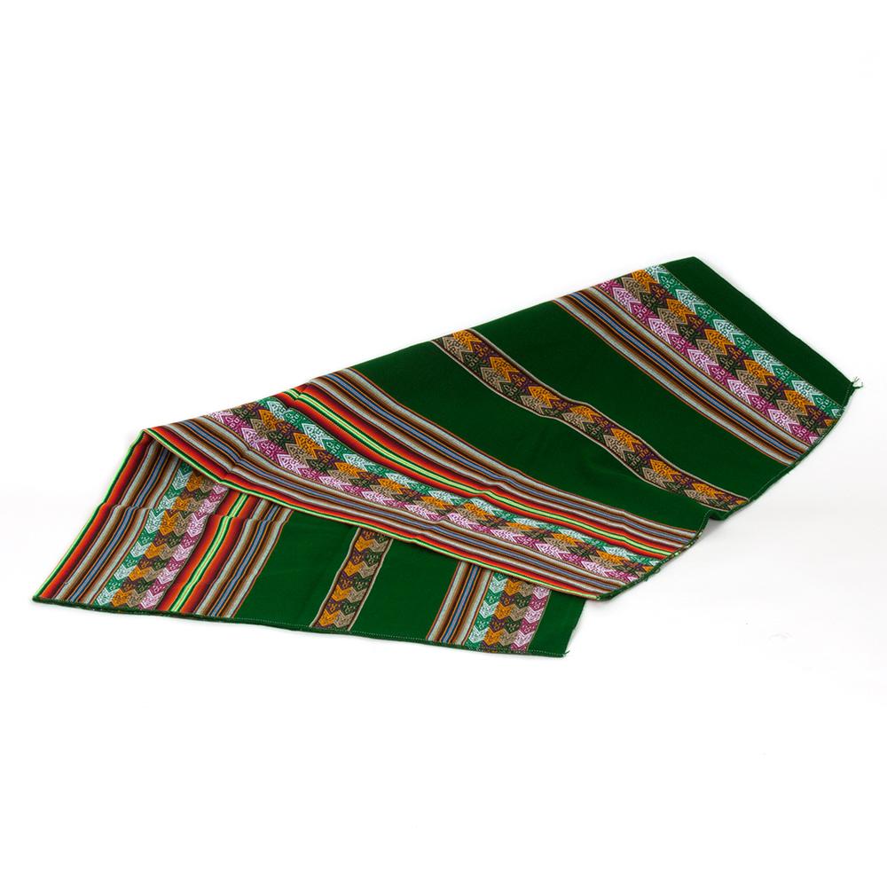 Decke Manta Peruana aus Peru, grün