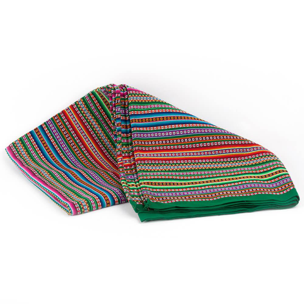 Decke Aguayo aus Peru, grün