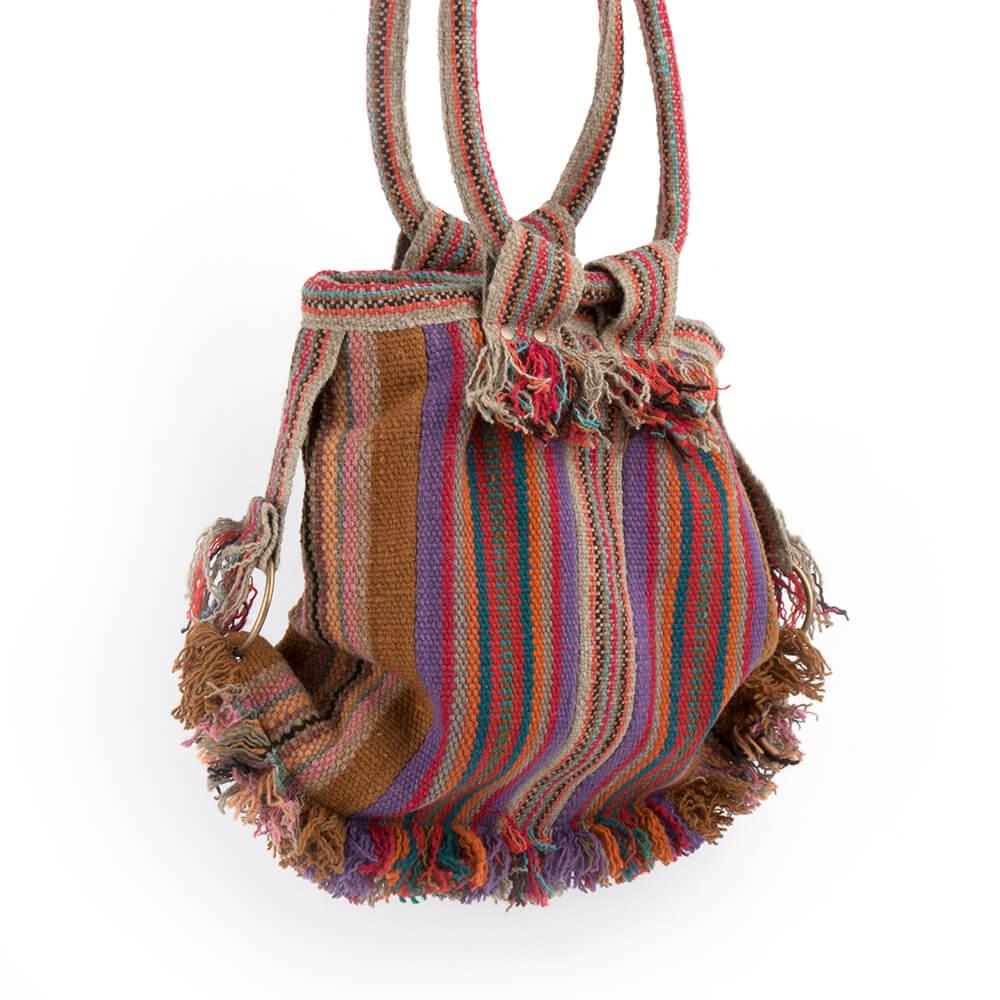 Henketlatsche in Erdfarben aus Peru, handarbeit