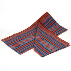 Große rote Decke aus Peru - Handarbeit