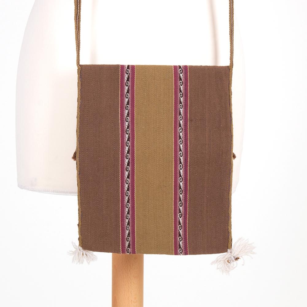 Leichte Tasche braun aus Bolivien - Chuspa Mediana