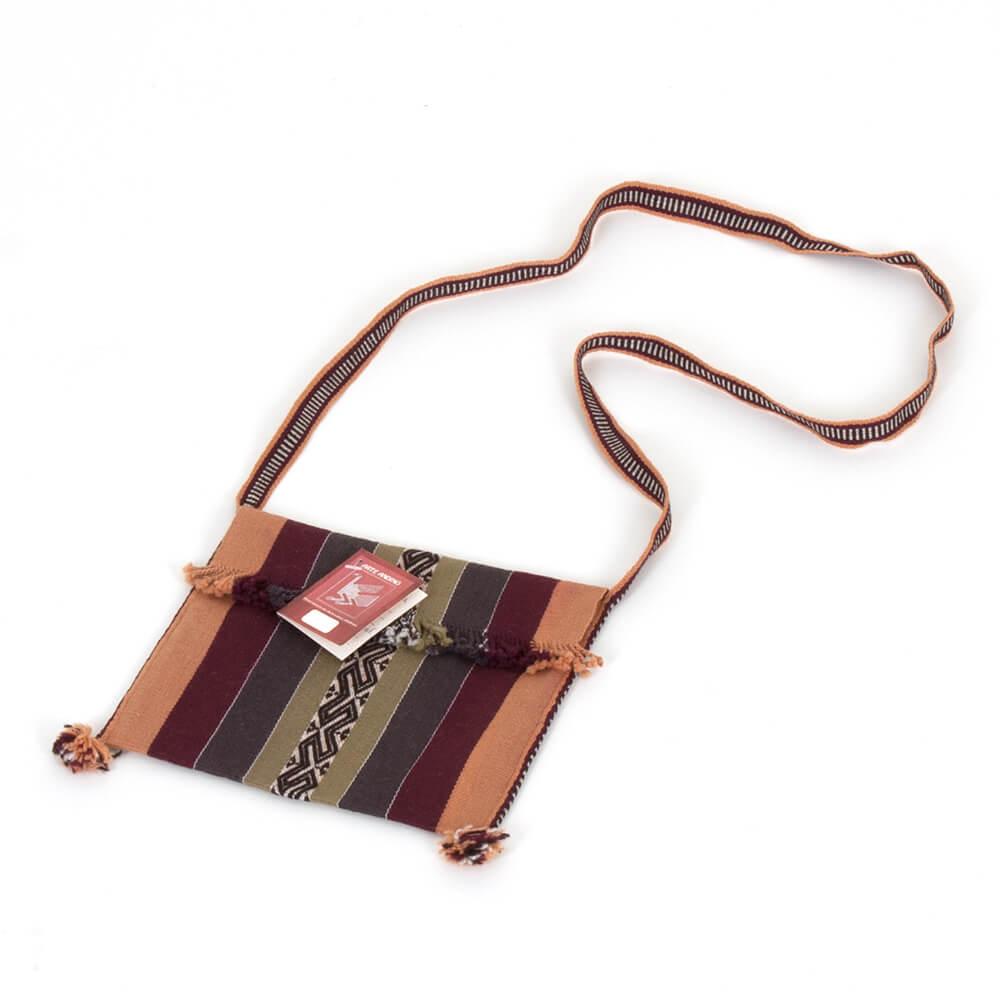 Leichte Tasche gestreift aus Bolivien - Chuspa Mediana