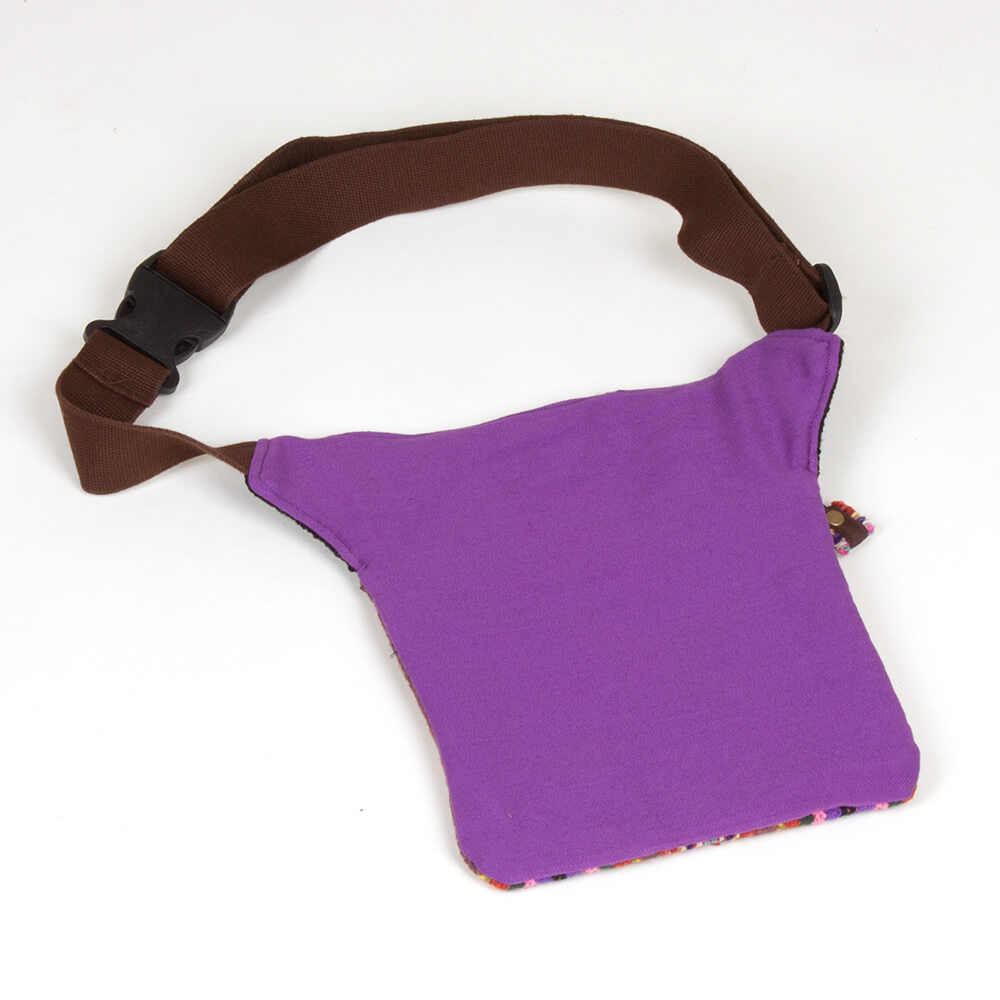 Gürteltasche aus Peru - violett