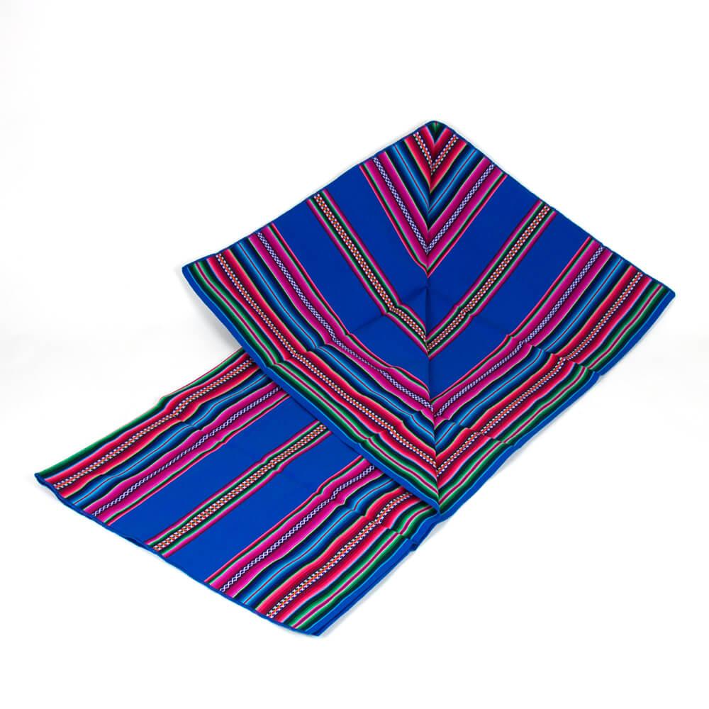 Aguayo Decke aus Bolivien, blau