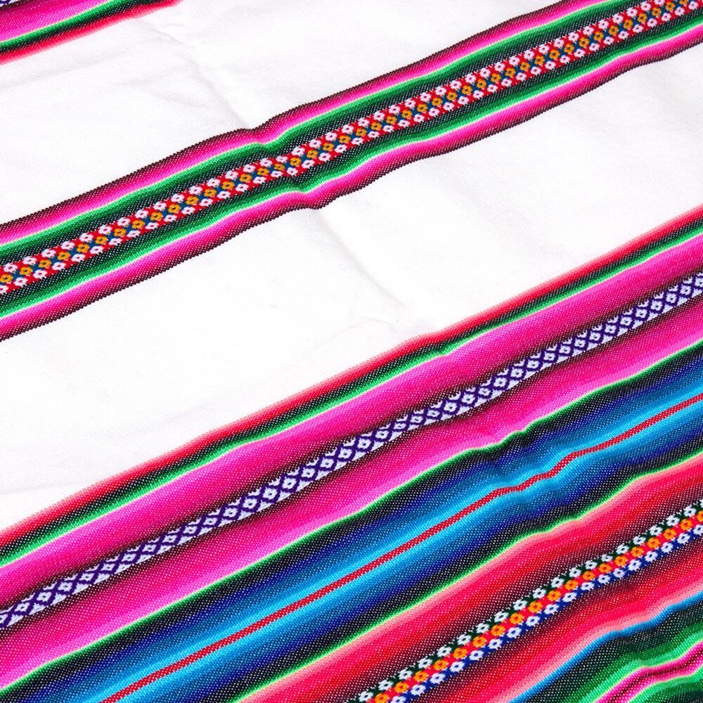 Aguayo Decke aus Bolivien, weiss