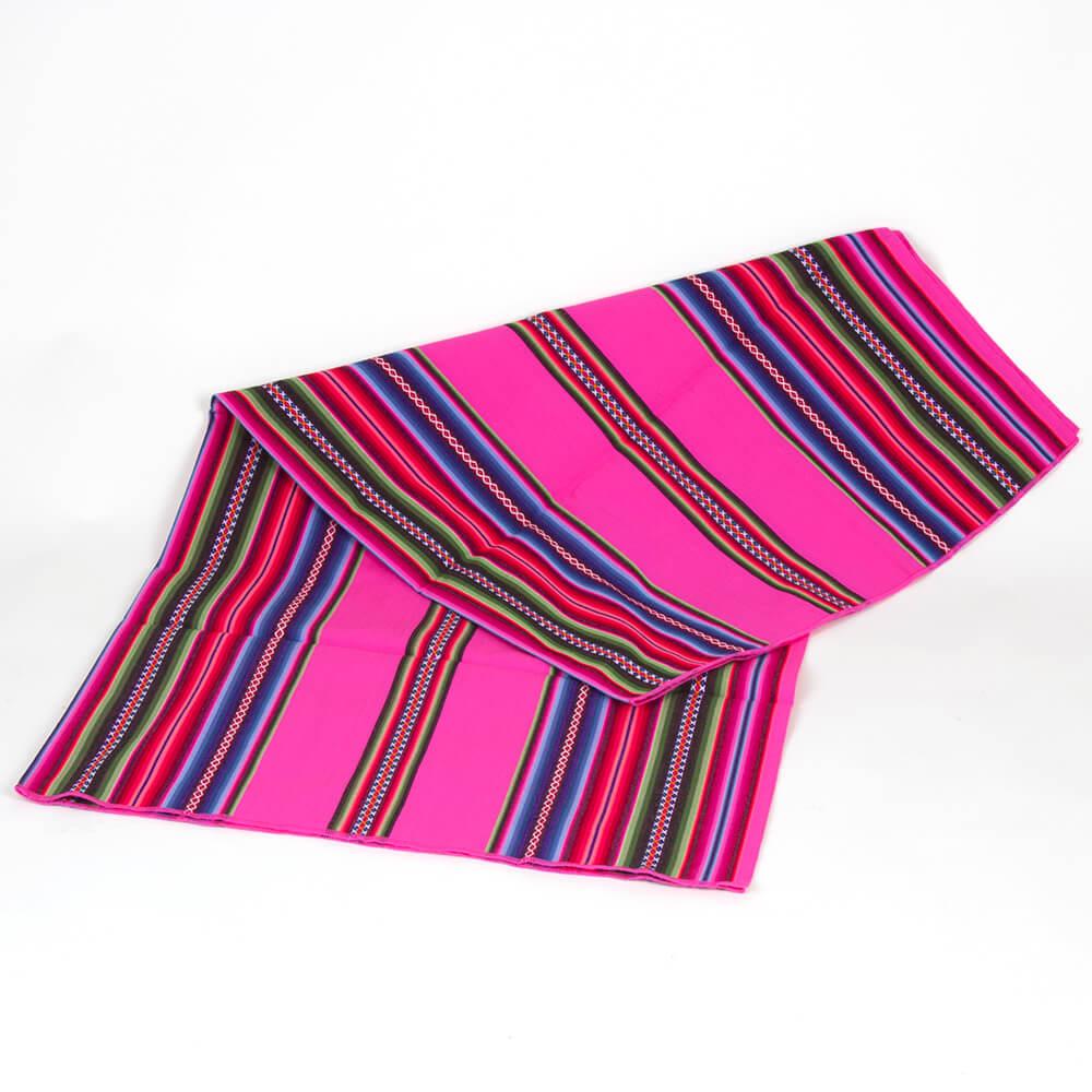 Aguayo Decke aus Bolivien, rosa