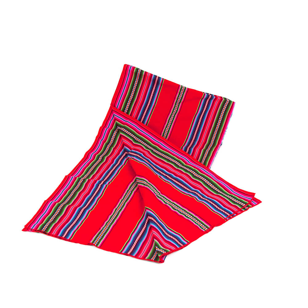 Aguayo Große Decke aus Bolivien, rot