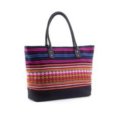 Henkeltasche aus Aguayo, schwarz bunt - Tote Bag von INKKAS