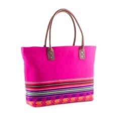 Henkeltasche aus Aguayo, pink - Tote Bag von INKKAS