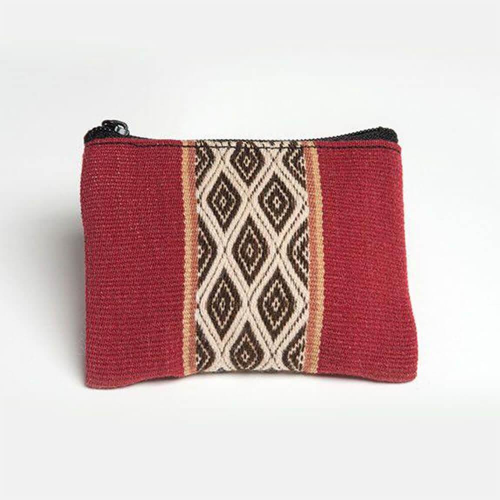 Geldbeutel aus Peru, rot