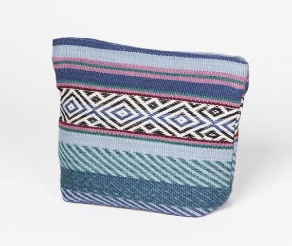 Wayra Cosmetic Pouch aus Peru -blau