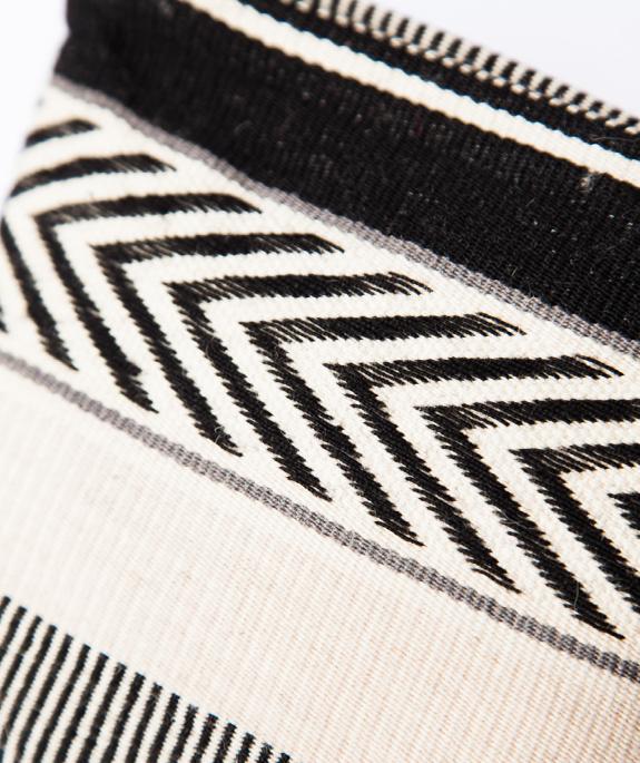 Wayra Cosmetic Pouch aus Peru -schwarz-weiss