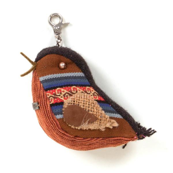 Anhänger Vögelchen aus Stoff - Peru