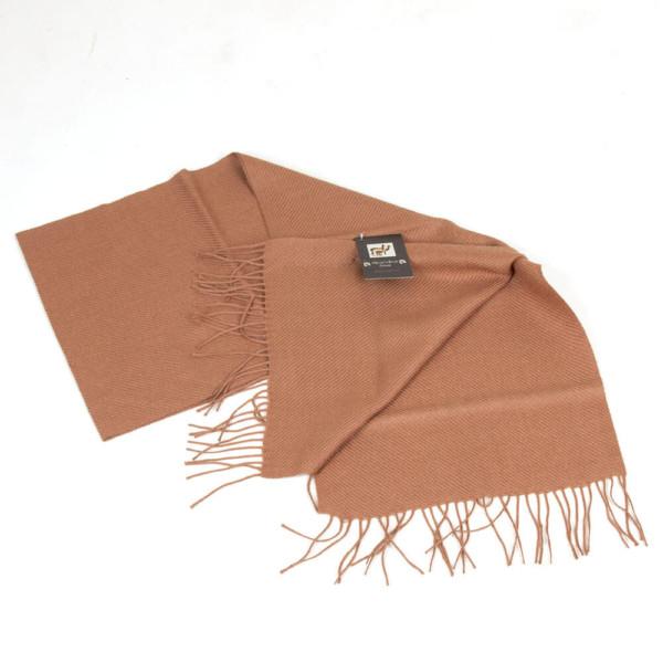 Schal aus Baby Alpaka Wolle Peru braun