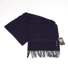 Schal aus Baby Alpaka Wolle dunkelblaufastschwarz