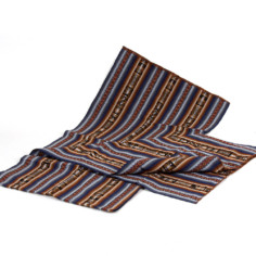 Große Aguayo Decke aus Peru - braun