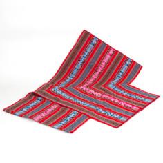 Große Aguayo Decke aus Peru - rot