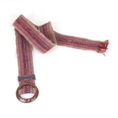 Gürtel aus Peru - rot gestreift