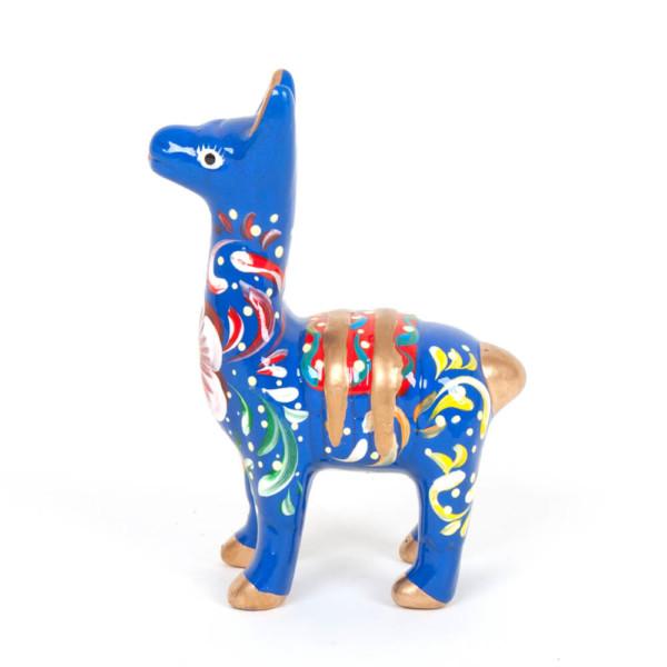 Lama aus Keramik, blau