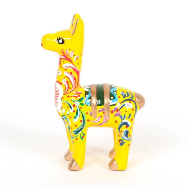 Lama aus Keramik, gelb