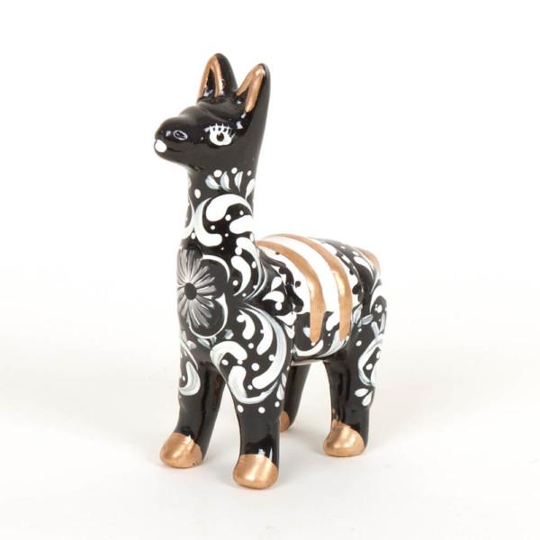 Lama aus Keramik, schwarz