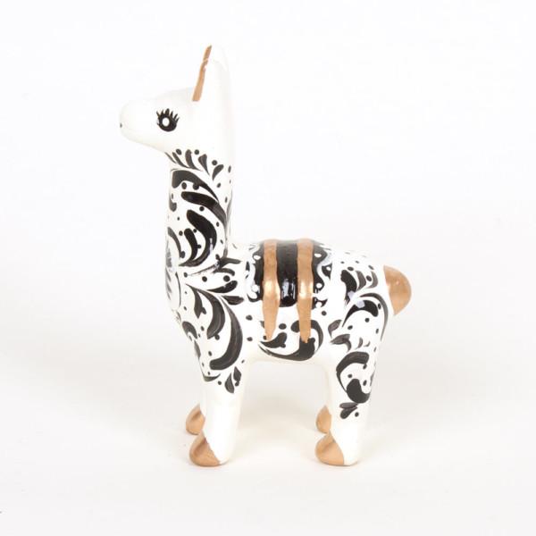 Lama aus Keramik, weiss